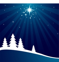Radial christmas background vector