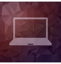 Laptop in flat style icon vector