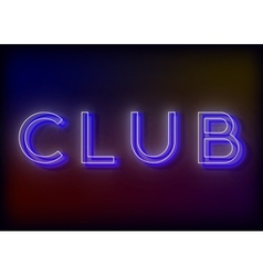 Neon club club neon sign vector
