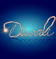 Creative diwali text vector