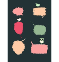 Speech bubbles with birds vector