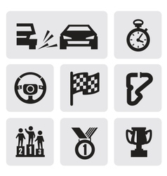 Race icons vector