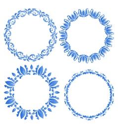 Set floral ornate round frames for your design of vector