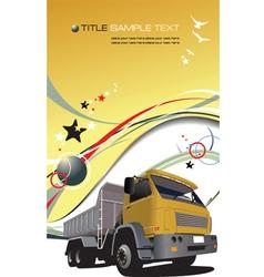 Truck background vector