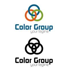 Color group logo vector