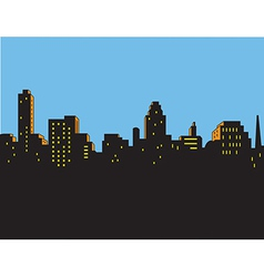 Retro classic city skyline vector