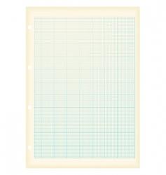 Grunge graph paper vector
