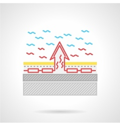 Flat color icon for underfloor heating vector
