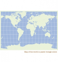 World map pastel color vector