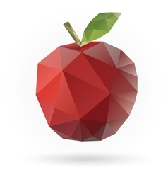 Apple low poly vector