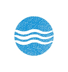 Wave water icon abstract icon symbol with hand vector