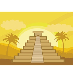 Maya pyramid chichen-itza mexico - vector