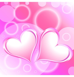Pink heart shiny holiday background vector