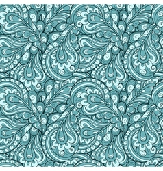 Blue feather pattern vector