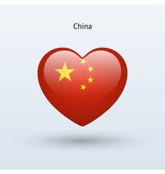 Love china symbol heart flag icon vector