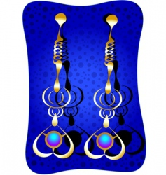 Earrings vector