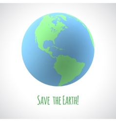 Save the earth poster vector