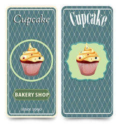 Template for coffee bakery shop vector