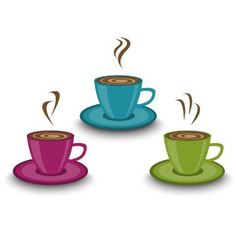 Cup of steaming drink vector