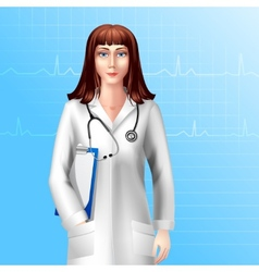 Female doctor character vector