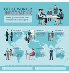 Office worker infographics vector
