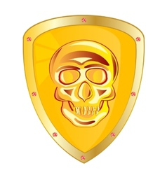 Yellow shield vector