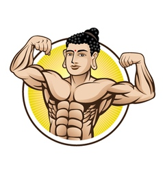 Muscle buddha vector
