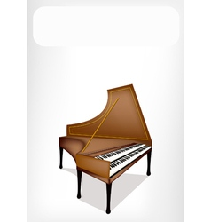 A retro harpsichord with a white banner vector