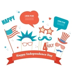 Costume props for independence day of america vector