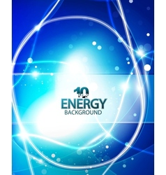 Blue energy background vector