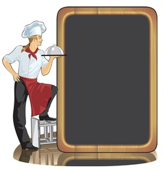 Young man cook vector