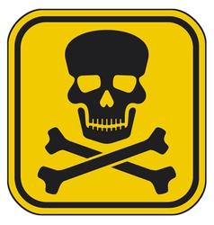 Skull danger sign-warning sign vector