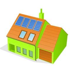 Green family house vector