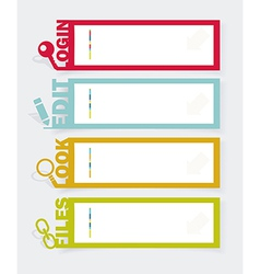 Web panel set infographics number options template vector