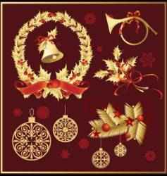 Set of christmas decoration variation vector
