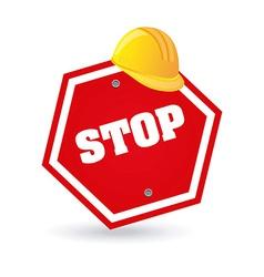 Stop design vector