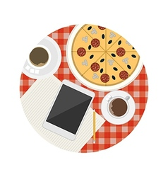 Flat icon for business lunch table vector
