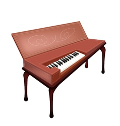 A retro clavichord isolated on white background vector