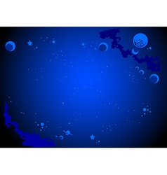 Outer space cartoon background vector