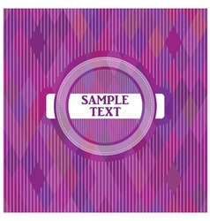 Label on a purple backgroun vector
