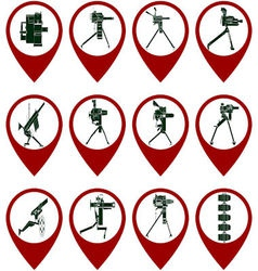 Badges with mounted grenade launchers vector