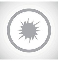 Grey starburst sign icon vector