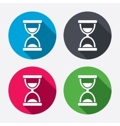 Hourglass sign icon sand timer symbol vector