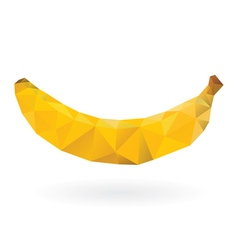 Banana low poly design vector