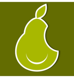 Humorous image of pear eps10 vector