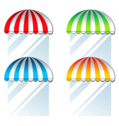 Coloured awnings vector