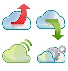 Cloud icon symbol design set vector