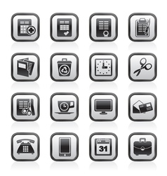 Business and office tools icons vector