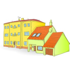 Handmade buildings vector