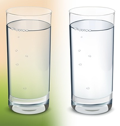 Glass with water isolated vector